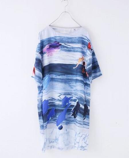FFIXXED STUDIOS Modern Matters Dress - Marble Print