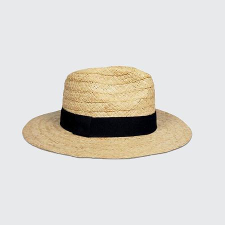 Hat Attack Daily Fedora Hat - Natural/Black