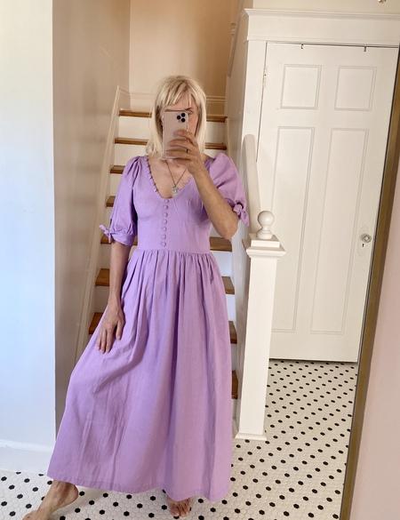 TACH CLOTHING Piscis Linen Dress - Lilac