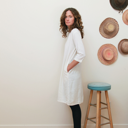 Me & Arrow 3/4 Sleeve Tall Dress - Off White