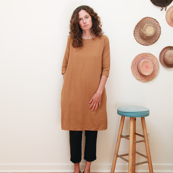 Me & Arrow 3/4 Sleeve Tall Dress - Apple Cinnamon