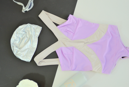 VPL Harness One Piece Suit: Lavendula