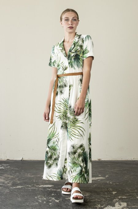Jude Clothing Long Island Maxi Dress - Tropical Print