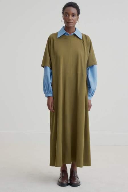 Kowtow Panel Dress - Khaki