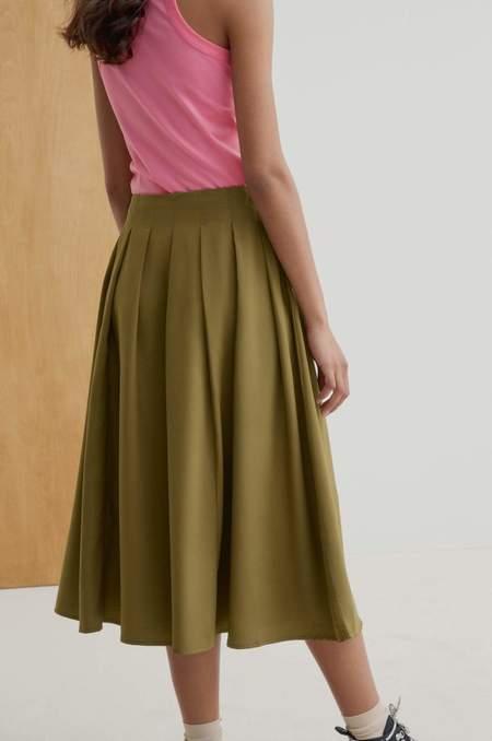 Kowtow Pavilion Skirt - Khaki