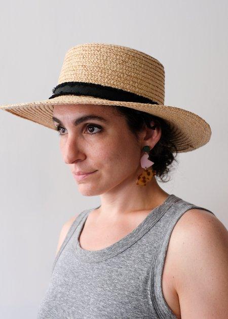 Hat Attack The Boater Hat - Natural/Black