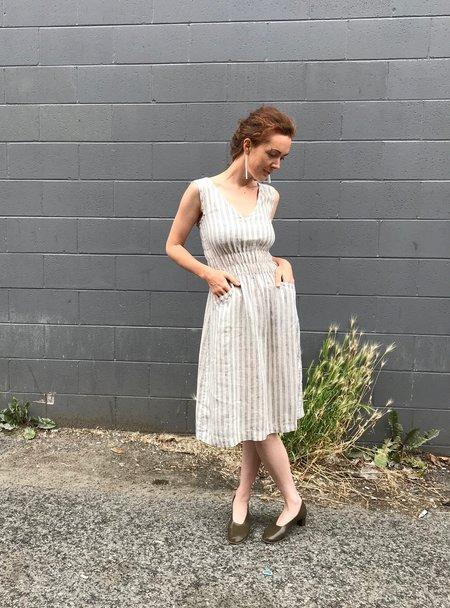 modaspia Fiji Linen Dress - French Stripe