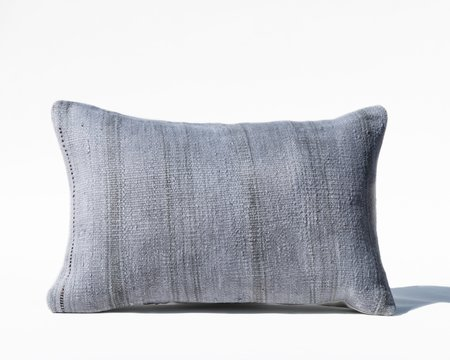 Collected by Wynne Ware Woven Turkish Lumbar Pillow Cover - Blue
