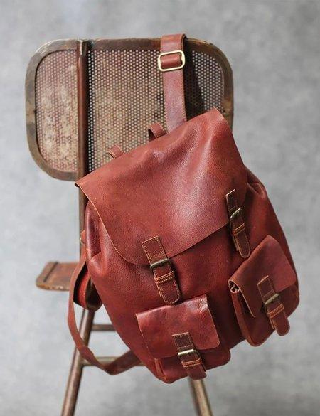 Nkuku Maya Leather Rucksack - Dark Tanned