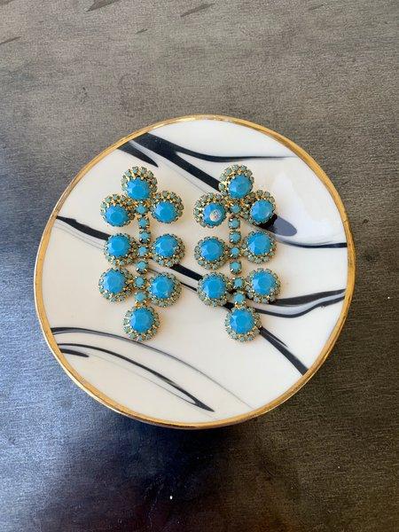 Elizabeth Cole Etta Earrings - Turquoise