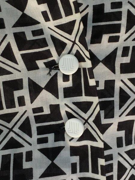 Vintage Lanvin Cotton Shirt - Geometric Print