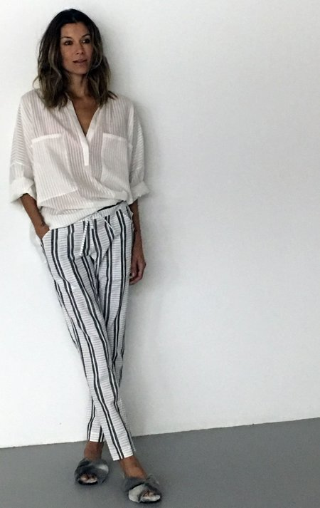 Two New! Chic Skinny Pants - Stripes