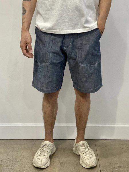 Monitaly Cotton Fatigue Shorts - Chambray