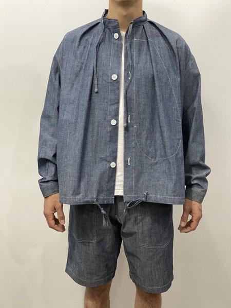 Unisex Monitaly Cotton Military Smock Shirt - Chambray