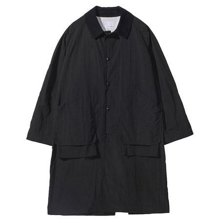 Nanamica Soutien Collar Coat - Black