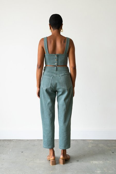 Waltz Bralette Top - Sage Denim