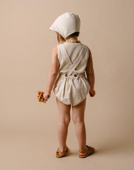 kids Noble Organic Sun Suit - Oat Milk