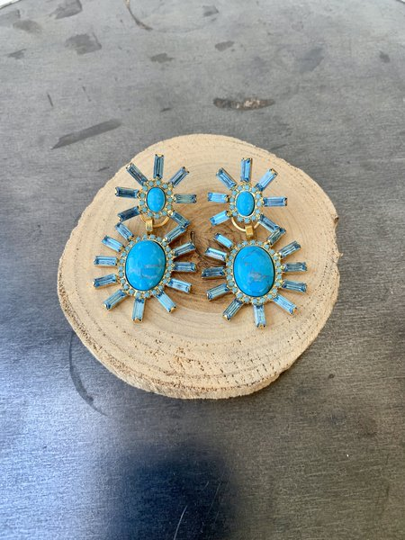 Elizabeth Cole Monette Earrings - Turquoise