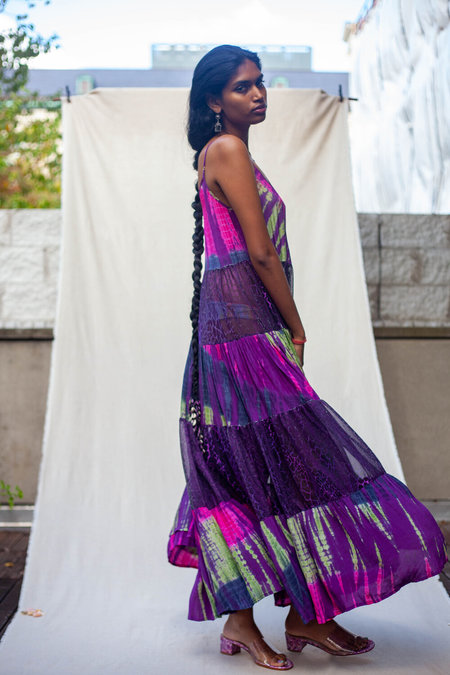 Abacaxi Tiered Maxi Dress