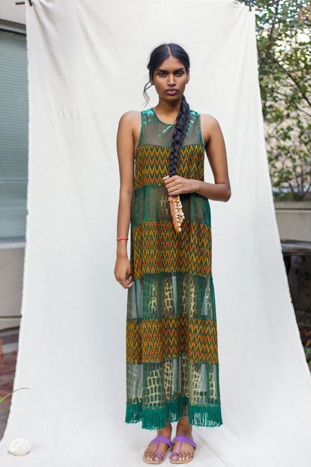 Abacaxi Mixed Media Dress