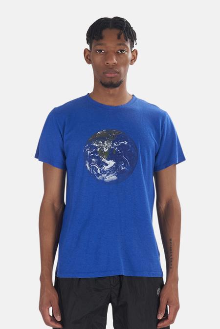 Jungmaven Earth Flag Jung Classic Tee Shirt - Blue