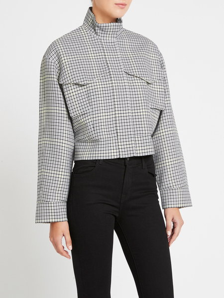 Camilla and Marc Duvall Biker Jacket - Snowden Check