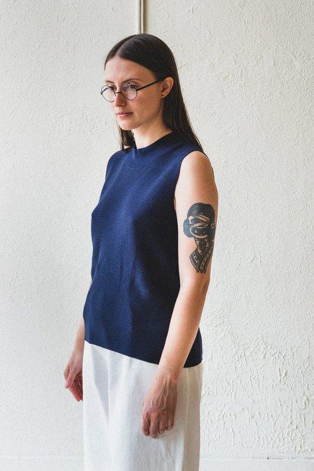 Factory Washi/Cotton Sleeveless Knit - Navy