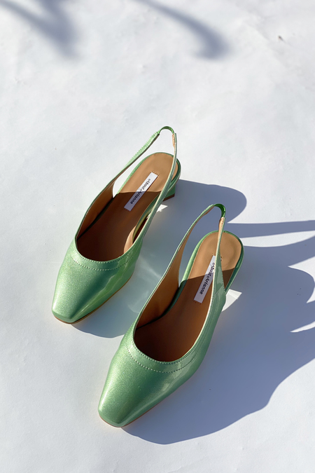 About Arianne Galo Vegan Mules - Emerald