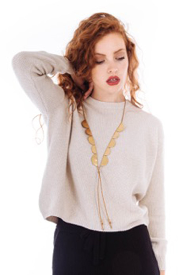 SAINT CLAIR Scout Necklace (Tan)