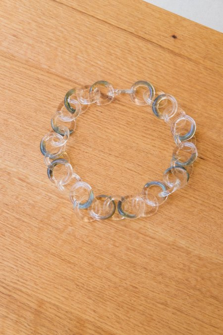 JANE D'ARENSBOURG ORGANIC GLASS LINK CHOKER NECKLACE