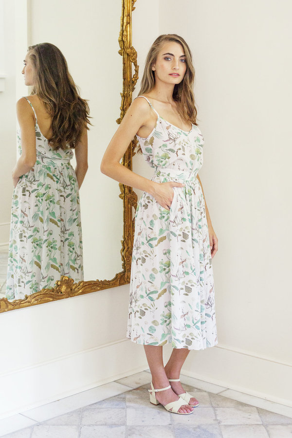 Plante Rose Skirt in Lily Pad Print
