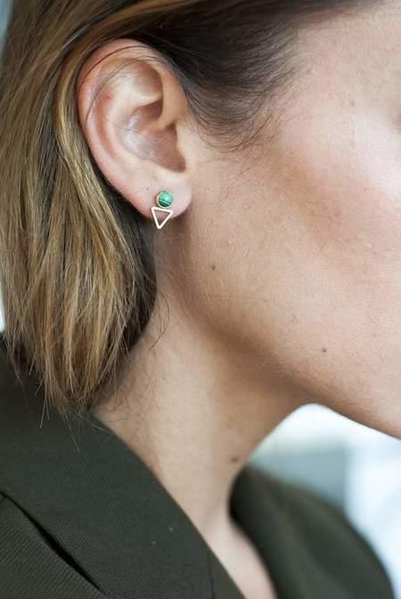 Michelle Starbuck Designs Tiny Elder Studs - Malachite