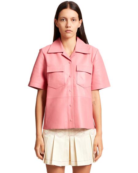Remain Short sleeved Notched Collar Shirt - Blossom Pink