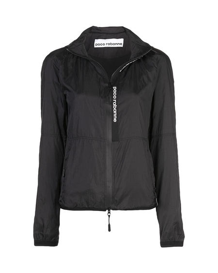 Paco Rabanne Zipped Fitted Jacket - Black