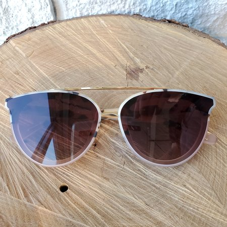 Krewe CLIO NYLON Glasses - MATTE OYSTER/PETAL 24K