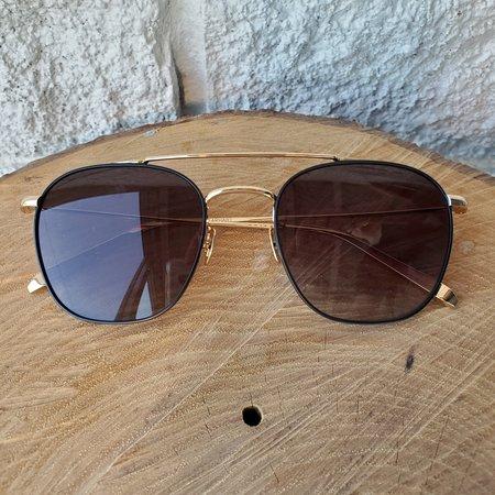Krewe EARHART Glasses - MATTE BLACK/24K TITANIUM