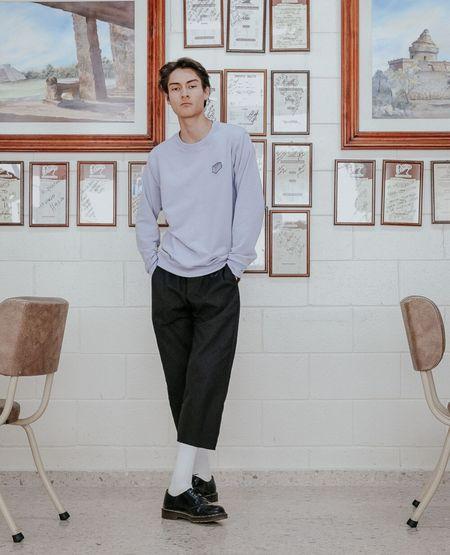 MERMANEGRA Brick Sweater - Purple