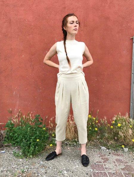 Valérie Dumaine Devo Pant in Natural Ramie