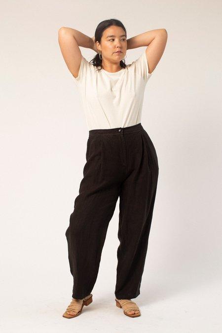 Filosofia Ella Linen Pants - Ink