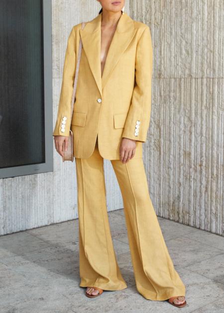 ÁERON Muse power suit blazer - Sundance yellow