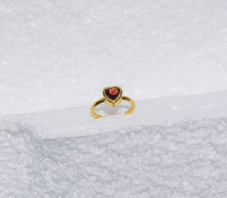 Luiny Heart of Glass Ring - brass