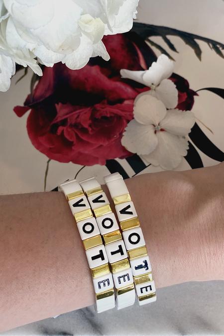 LA LUMIERE NY VOTE Bracelet - White