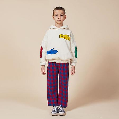 Kids Bobo Choses Child Hooded Sweatshirt With All Over Lost Gloves Print - White
