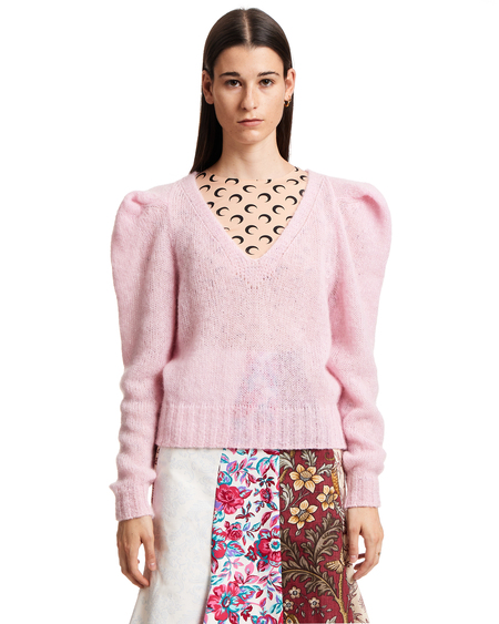 Philosophy by Lorenzo Serafini Puff-shoulder Knitted Jumper - Pink