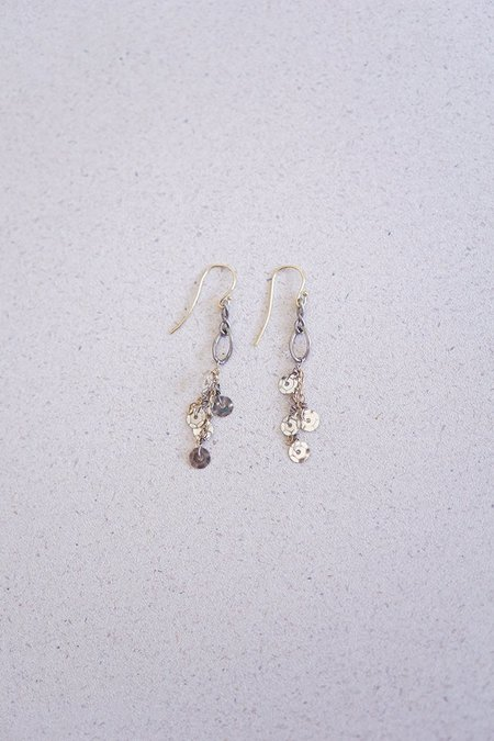 Gabriela de la Vega  Sparkle Sequin Earring - Multi/Silver