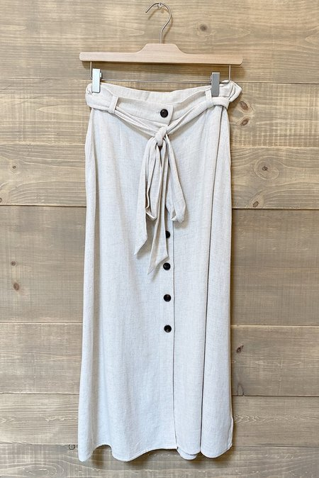 Rokoko Linen Midi Skirt - Natural