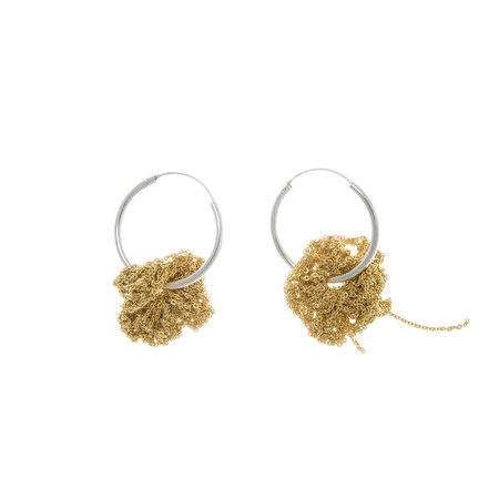 Arielle de Pinto Pansy Hoops - Gold Vermeil