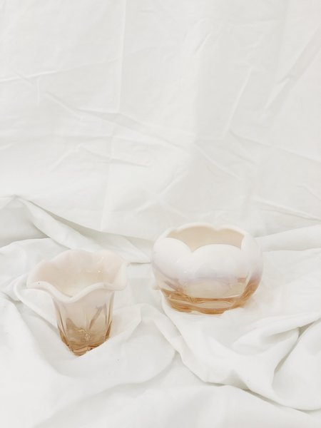 Vintage Ombre Bowl & Vase Set