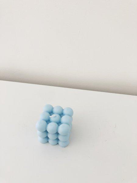 Ri-Ri-Ku ATOM CUBE CANDLE - BLUE