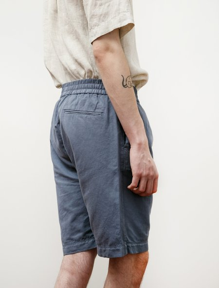 Sunspel Summer Drawstring Shorts - Blue Slate